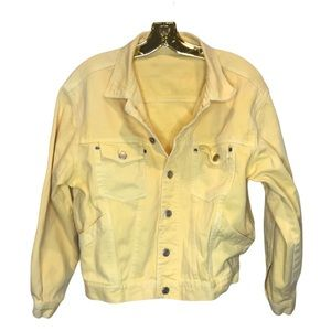 Yellow Denim Jean Jacket sz M